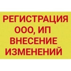 Регистрация,  внесение изменений в ООО/ИП